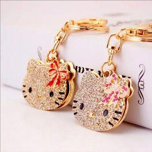 Hello Kitty mirror keychain